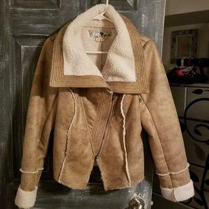Jolt faux snakeskin jacket size large